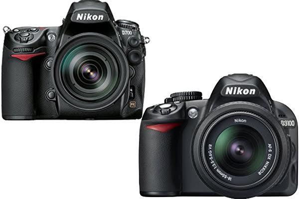Nikon D700 vs. D3100