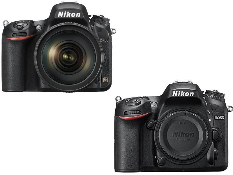 Nikon D750 vs. D7200