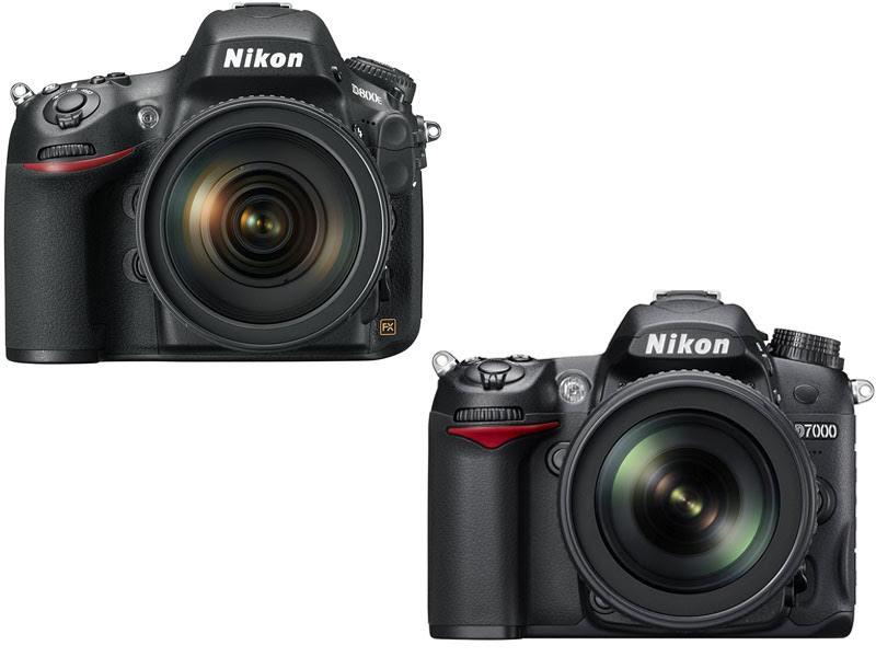 Nikon D800E vs D7000