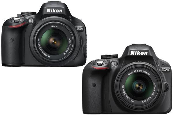 Nikon D5100 vs. D3300