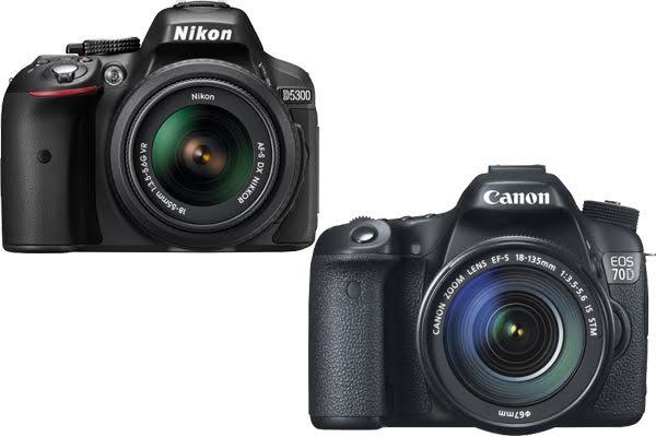 Nikon D5300 vs. Canon 70D