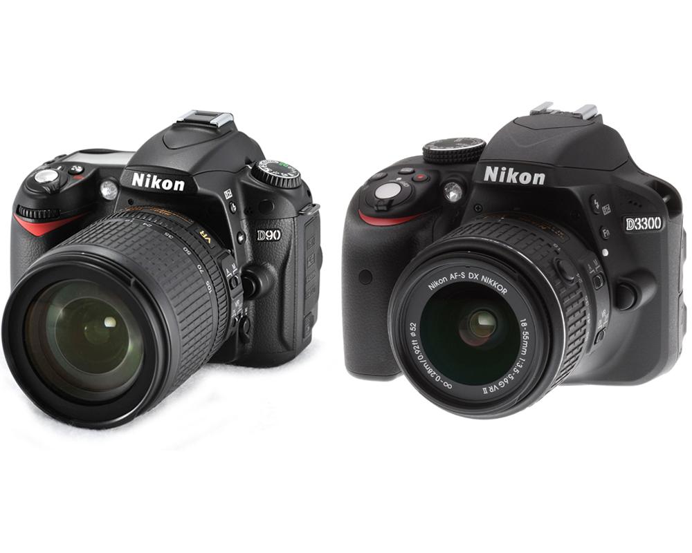 nikon-d90-vs-nikon-d3300
