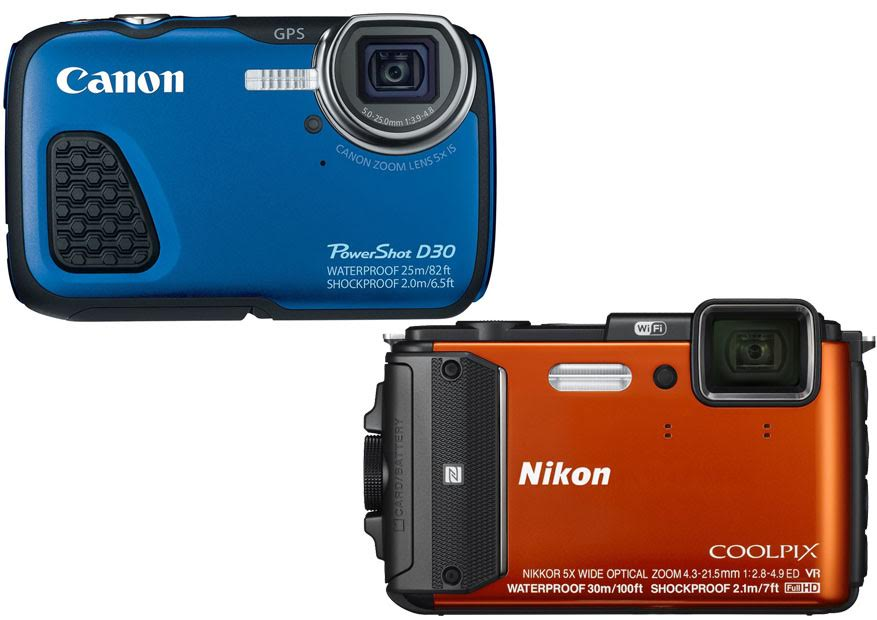 Canon Powershot D30 vs Nikon Coolpix AW130