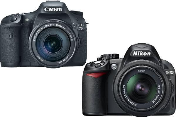 Canon 7D vs. Nikon D3100