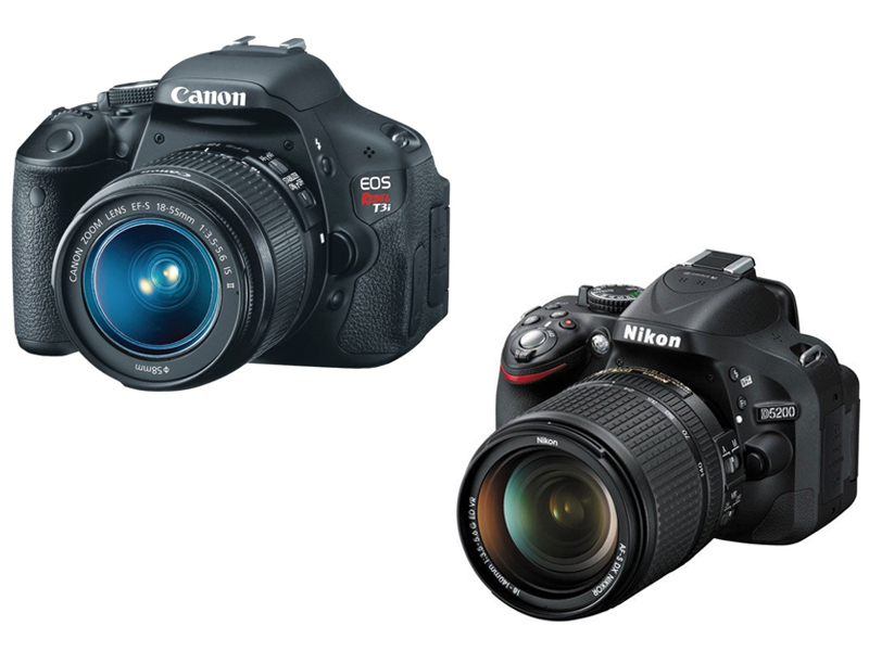 Canon Rebel T3i vs Nikon D5200