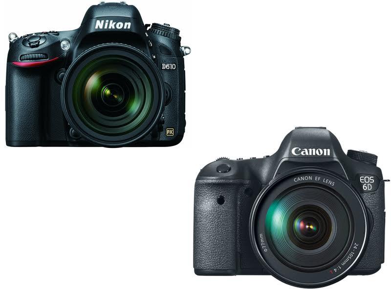 Nikon D610 vs. Canon 6D