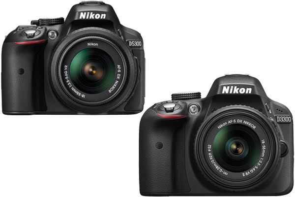 Nikon D5300 vs. D3300