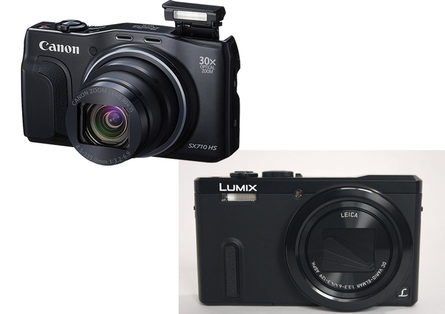 Canon Powershot SX710 HS vs. Panasonic Lumix DMC TZ60 1