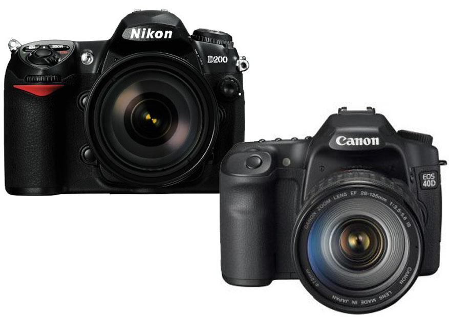 Nikon D200 vs. Canon 40D