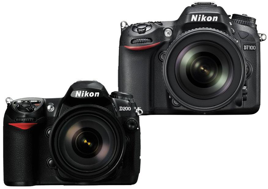 Nikon D200 vs. D7100