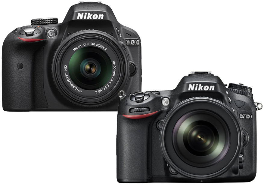 Nikon D3300 vs. D7100